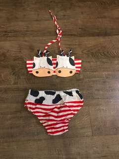 Adorable Cow Bikini for Babies ❤😍