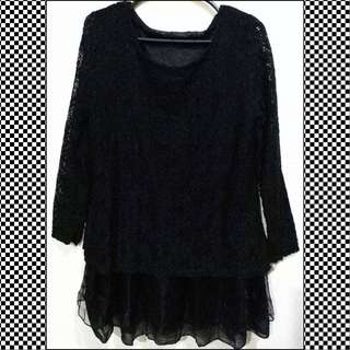 Preloved Black Lace Dress