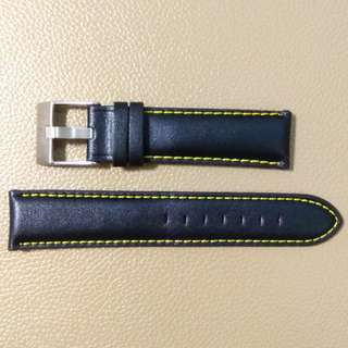 真皮錶帶leather watch band21mm