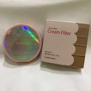 (Preloved) Etude House Any Cushion Cream Filter SPF33 PA++ (Shade: Vanilla)