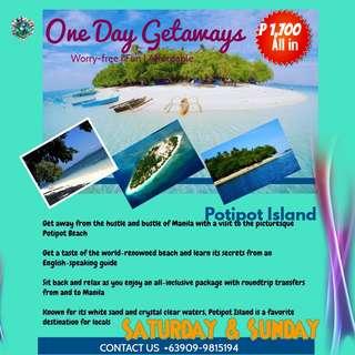 POTIPOT ISLAND ZAMBALES ONE DAY GETAWAY