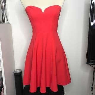 H&M Red Orange Tube Dress