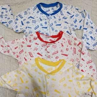 Set of 3 Mothercare Sleepsuits 6-9m