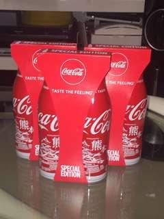 全新 一套兩枝 日本九州限定 特別版 可口可樂 熊本 鐵瓶