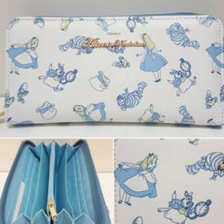 日本迪士尼 Disney Alice in Wonderland 愛麗絲 長銀包