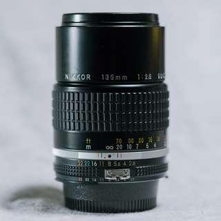 Nikon Nikkor 135mm 2.8 AI-S (Nikon F-Mount Manual Lense)