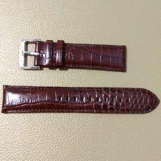 真皮錶帶leather watch band22mm