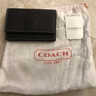 Coach全新 黑色卡片套