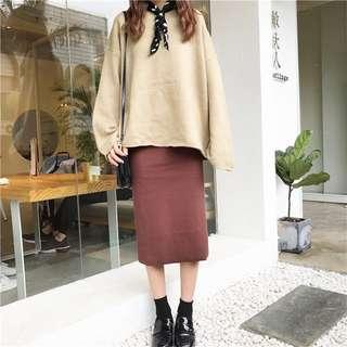 咖啡色長裙