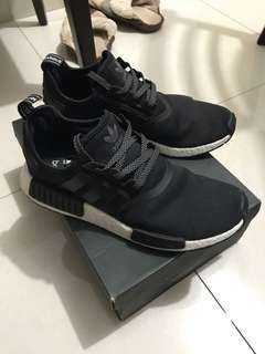 Adidas NMD R1 BLACK WHITE