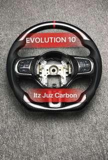 Mitsubishi Evolution X Carbon Steering