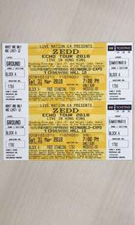 Zedd Echo Tour in HK 3張飛