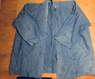 Japanese Kimono Shirt/ Boro/ Indigo