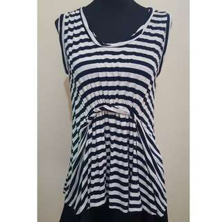 BNWT Missy Striped Blouse