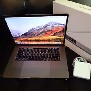 "2017 Apple MacBook Pro Touch Bar Space Gray 15"" Laptop 512GB  Warranty"