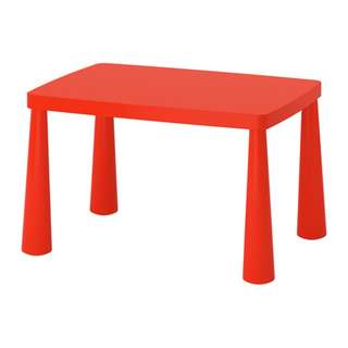 [IKEA] MAMMUT Children's Table / In or Outdoor (White/Red)