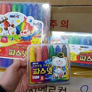3/30收單♥韓國 -AMOS-無毒水洗蠟筆-粗款
