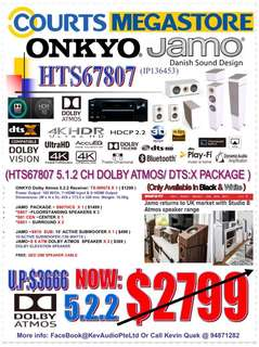 ONKYO & JAMO HTS67807 5.1.2 Dolby Atmos & DTS:X System Package
