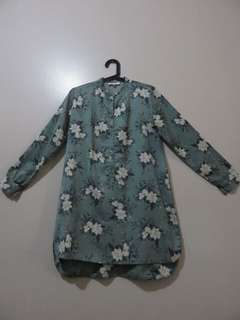 (Nava) Chinese Collared Spring Dress
