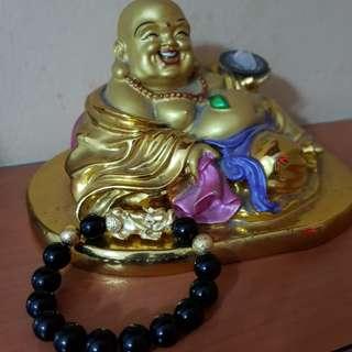 Feng shui pixiu 24k gold plated open light