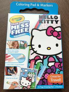 Crayola color wonder, mess free hello kitty coloring pad & markers