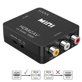 High Quality HDMI2AV Converter Mini HD Video Box 1080P HDMI To AV CVSB L/R RCA Adapter Support HDCP & NTSC PAL Format