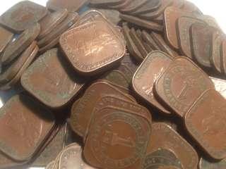 Straits settlement one cents 100 pcs