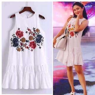 Updated! Embroided Baby Doll Dress