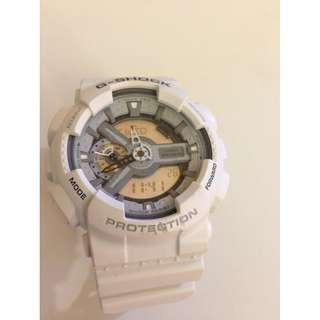 Authentic Men G-shock Casio white chronograph watch