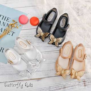 Butterfly jelly shoes