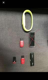 Thumb drives flash drives SD card