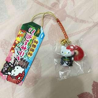 京都 限定 藝伎 kitty 吊飾