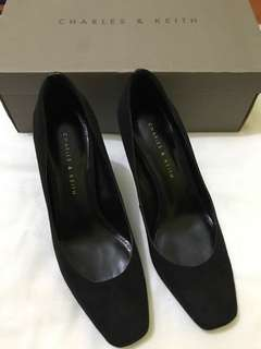 Charles and Keith Suede Pumps