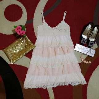Dress pink renda