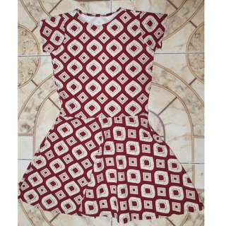 Brown Shortsleeves Dress
