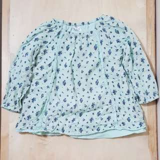 F&F 100% Cotton Airy Long Sleeve Blouse (6-9 mos)