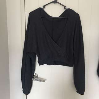 Glassons billow sleeve crop
