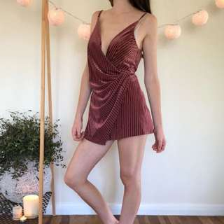 Peppermayo Velvet play suit