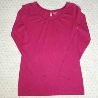 💯 Auth Ann Taylor LOFT Pink Long Sleeve