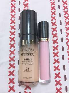 Milani Conceal+Perfect & Relvon Lip Gloss
