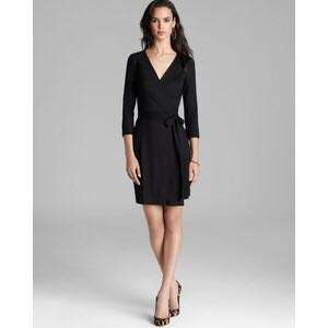DVF Brand New with Tag Julian black wrap dress (size 8 - M to L)