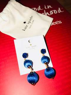 Brand New 100%  Kate Spade Blue Earrings