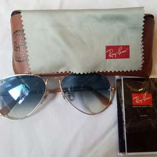 Ray-Ban Aviators, Authentic, Blue Lens Pre-owned