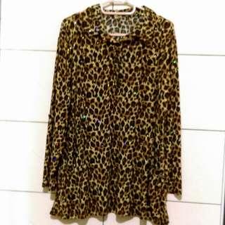 豹紋傘狀襯衫