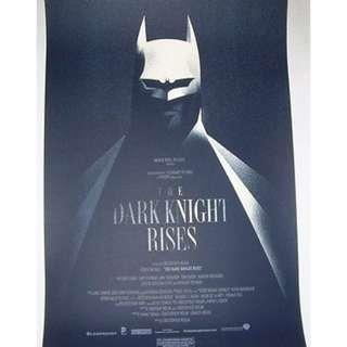 Batman Dark Knight Rises, Mondotee print by Olly Moss