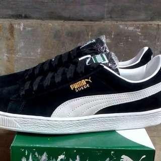 Puma Classic Suede + black White