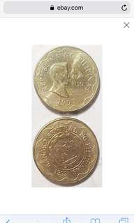 Phil 5 peso coin 1997