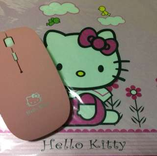 Wireless mouse and mouse mat