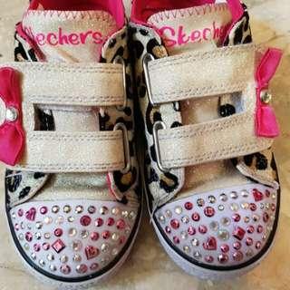 skechers童鞋發光二手(尺寸15CM)