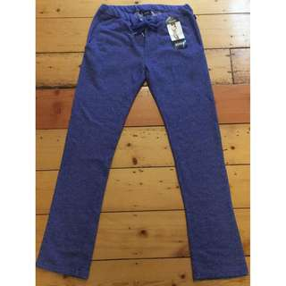 Bonds Blue Track Pants Size S New With Tags RRP $49.95